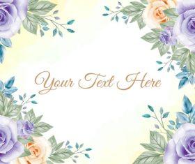 Vector background flower watercolor