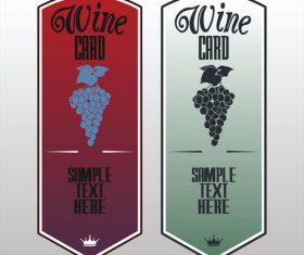 Vector card of wine