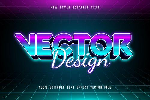 Vector new style editable text