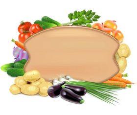 Vegetable board vector