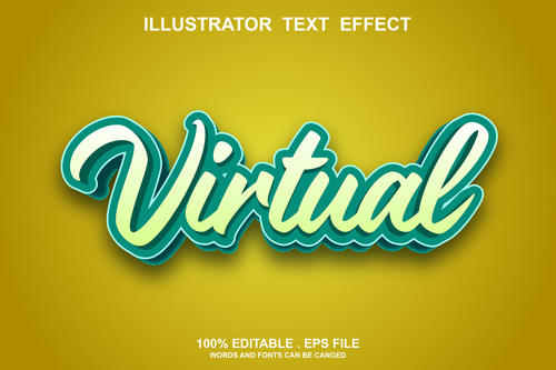 Virtual text font style vector