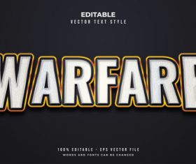 Warfare text font style vector