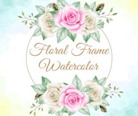 Watercolor frame vector background