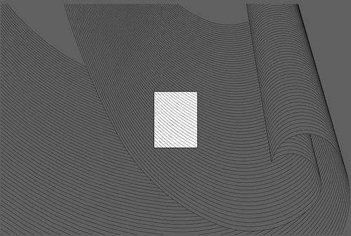 Wavy lines black background vector