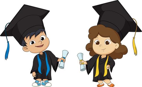 We graduated cartoon vector