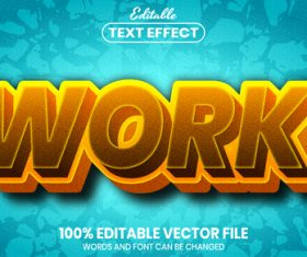 Work text font style vector