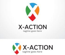 X action logo vector