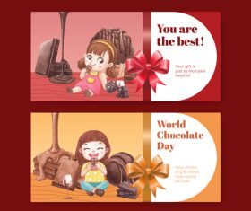 You are the best chocolate promotional vector