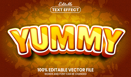 Yeah text font style vector