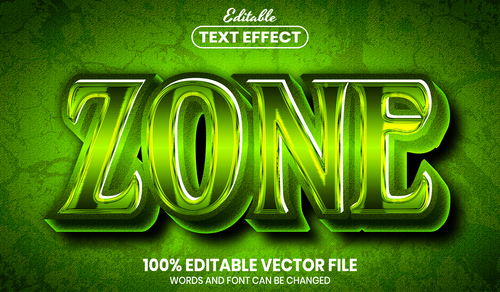 Zone text font style vector