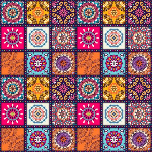 36 mandala patterns vector
