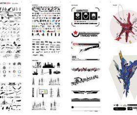 500 hi tech elements vectors