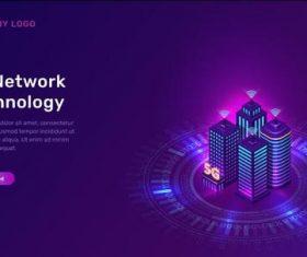 5g network technology card vector