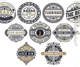 9 Vintage Logos and Badges vector