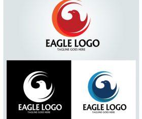 Abstract eagle logo design vector