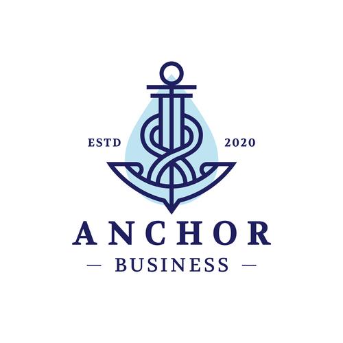 Anchor business logo vector