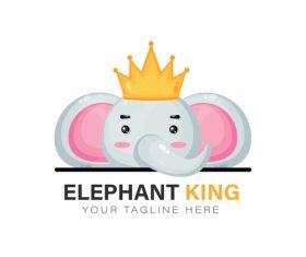 Animal king icon vector
