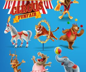 Animal show vector