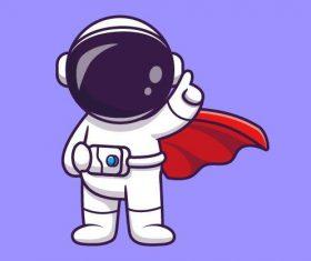 Astronaut cartoon illustration vector