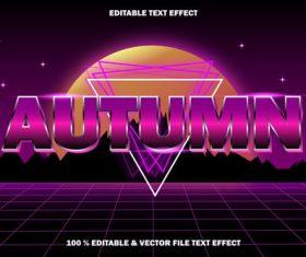 Autumn editable text effect style vector