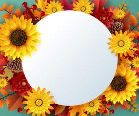 Autumn greeting card vector