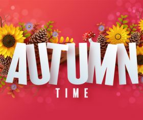 Autumn harvest time background vector
