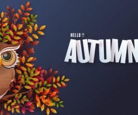 Autumn holiday seasonal vector background vector