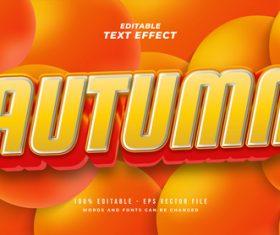 Autumn vector text effect