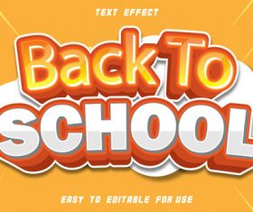 Back to school editable text effect comic style vector