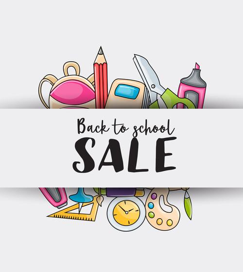 Back to school sale vector