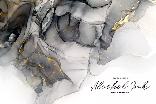 Background black gold marble vector texture