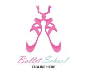 Ballet logo design vector