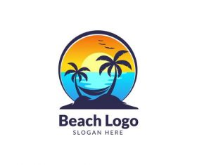 Beach logo vector design