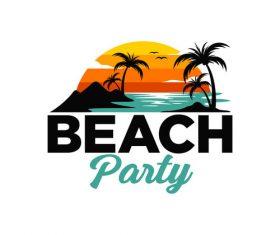 Beach party vector