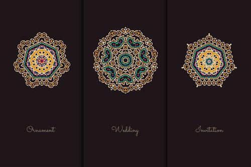 Beautiful geometric pattern mandala vector