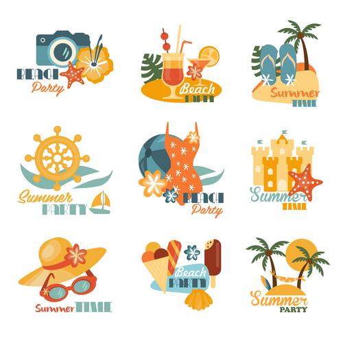 Beautiful summer logo vector