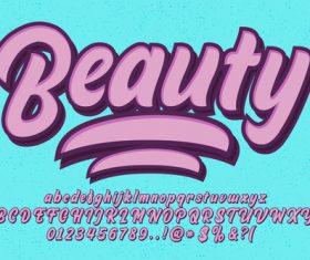 Beauty 3D emboss purple style vector