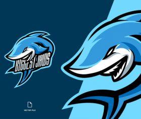 Biggest Jaws sport logo vector