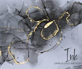 Black gold marble vector texture