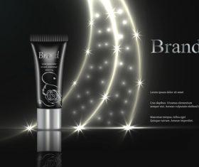 Black gorgeous cosmetics advertisement vector