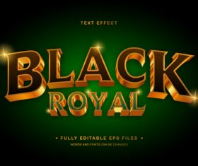 Black royal vector editable text effect