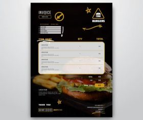 Black white menu vector