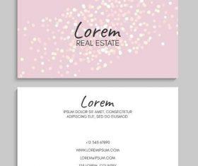 Blur light background business card vector