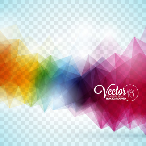 Blurred colorful squares abstract background vector