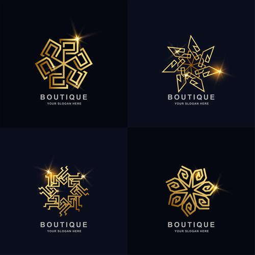 Boutique abstract logo vector