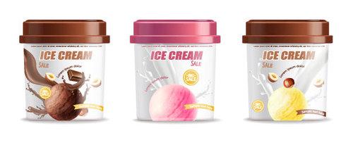 Boxed ice cream vector