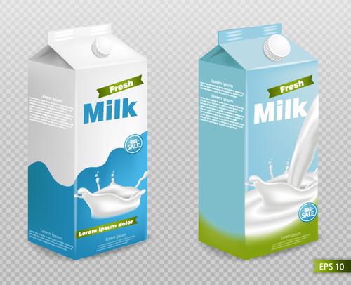 Boxed milk vector