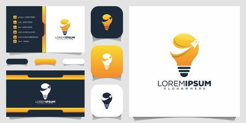 Brainstorm business card design vector