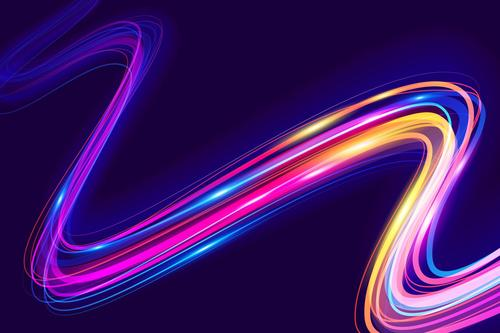 Bright curved shining abstract background vector