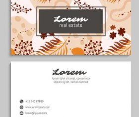 Brown background business card vector